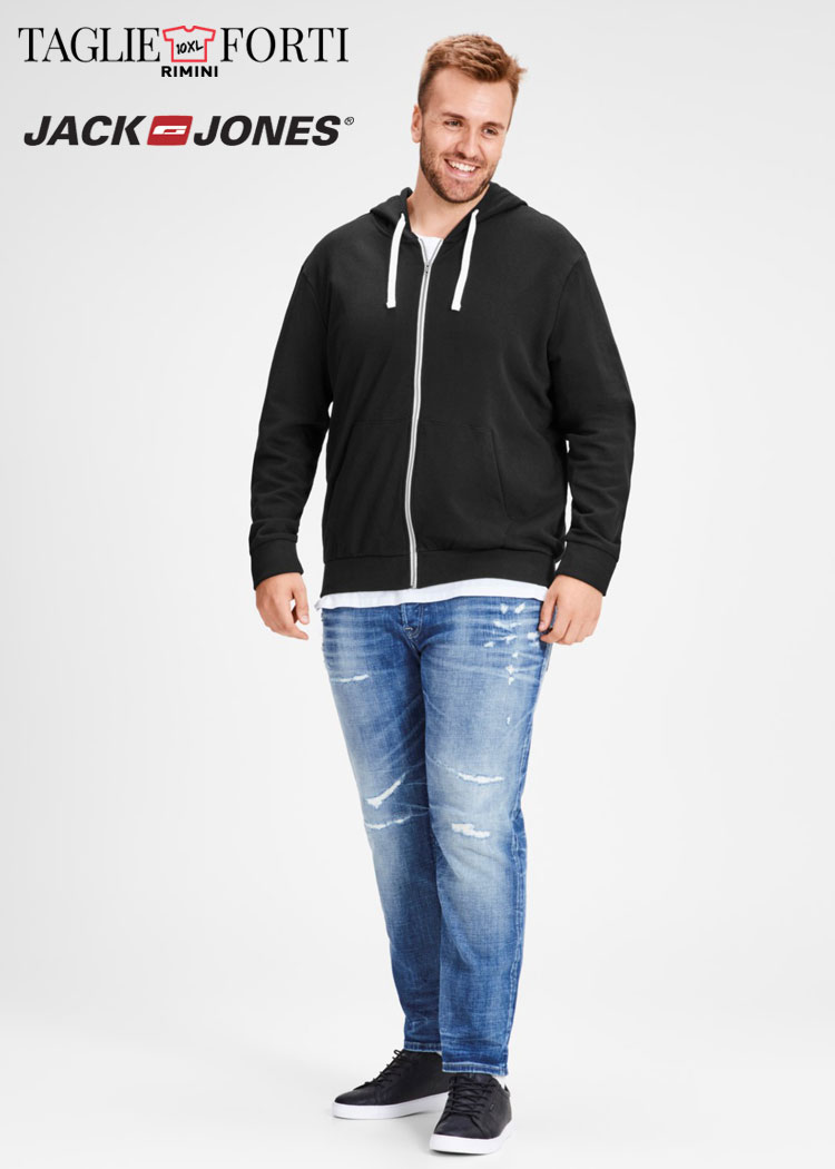 aspetto dettagliato 1e62a f6275 Jack & Jones giacca cardigan felpa uomo taglie forti articolo 12142716 nero
