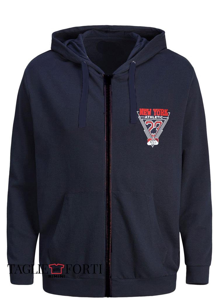 hot sale online 92c41 e53fd giacca felpa zip taglie forti uomo Maxfort articolo 29801 blu