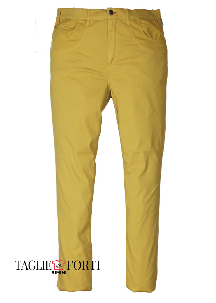 29407f7b8d7d Maxfort pantalone taglie forti uomo articolo bramante giallo ...