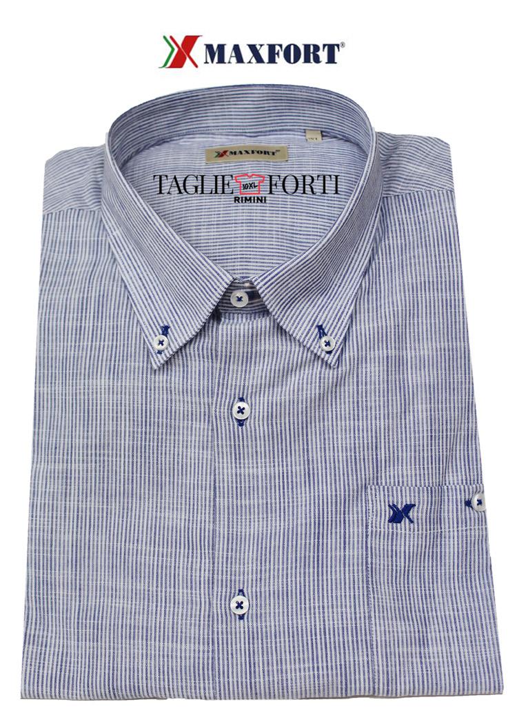 114bac53f038 Camicia Maxfort taglie forti uomo articolo gubbio blu