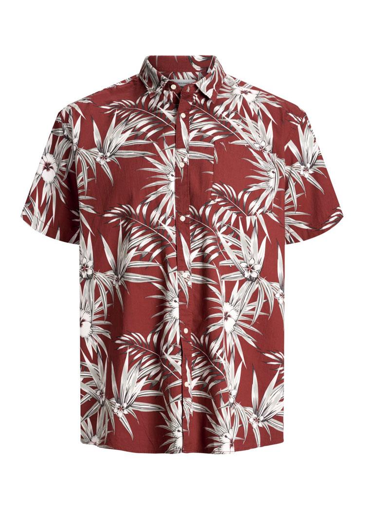 super speciali vendita più calda autorizzazione Jack & Jones camicia uomo taglie forti uomo articolo 12161417 rosso bordò