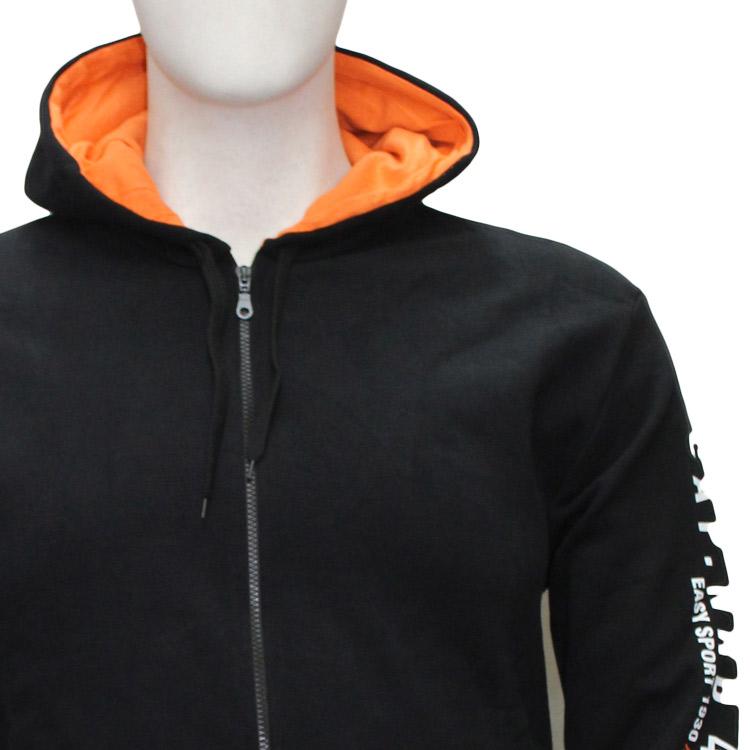 info for 0252a b4b8a giacca felpa zip taglie forti uomo Maxfort articolo 1524 nero
