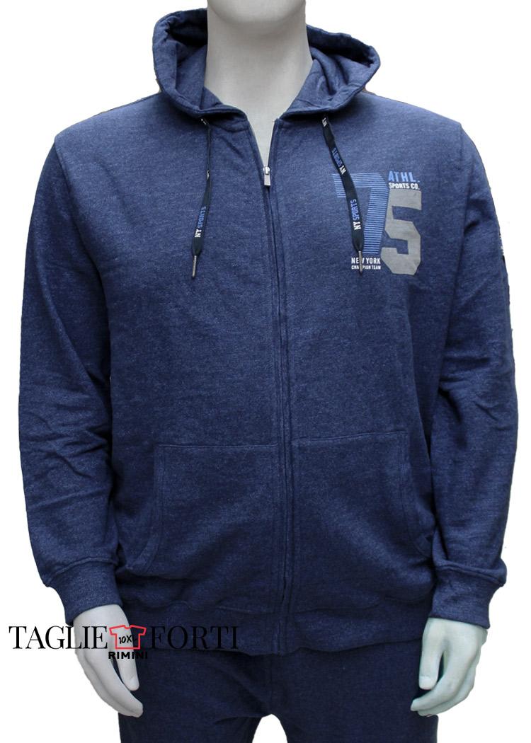outlet store c1c9c 2b296 Kitaro giacca cardigan felpa uomo taglie forti 195265 blu avio