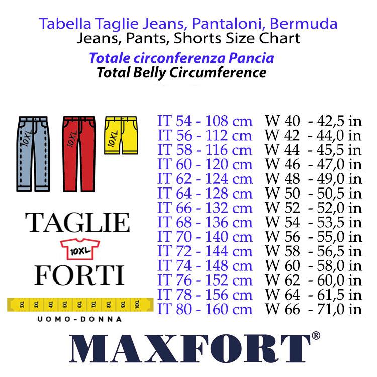 Maxfort pantalone taglie forti uomo articolo gregorio bianco