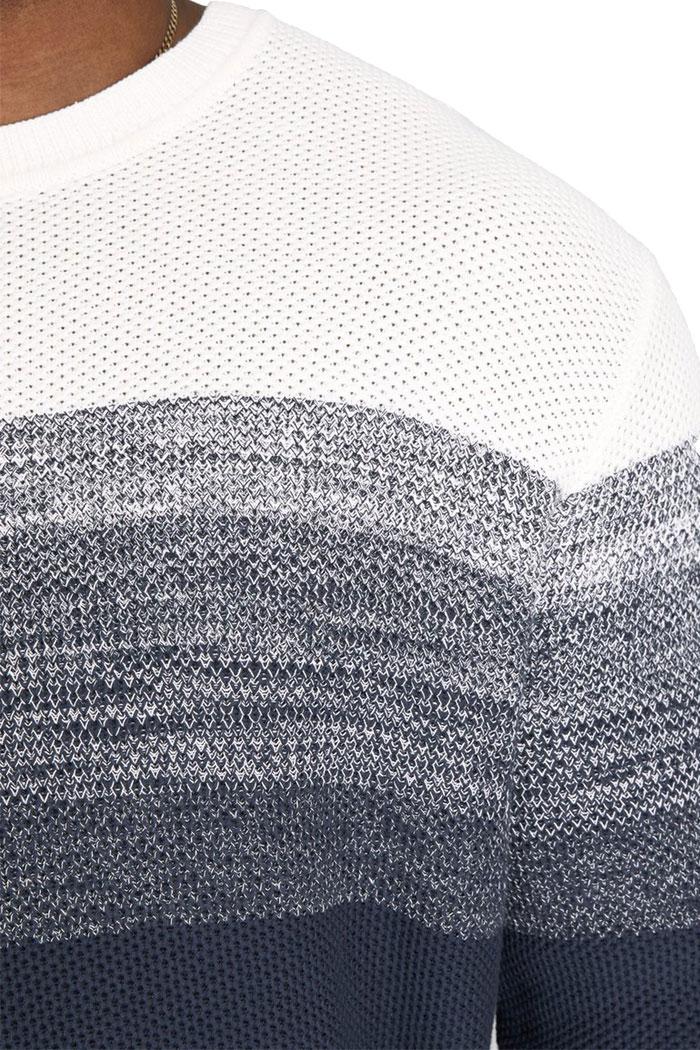 Jack /& Jones Uomo Lavorazione a Maglia Pullover O-Neck Melange Pullover A Maglia Manica Lunga Top