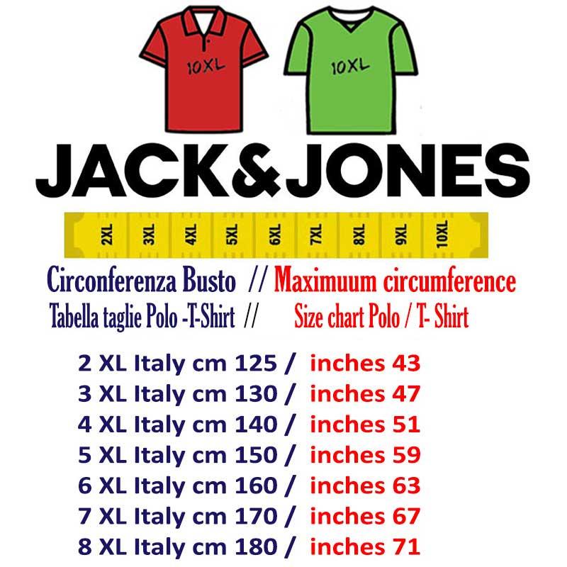 Jack and Jones Logo T-Shirt Mens Gents Crew Neck Tee Top Short Sleeve Cotton