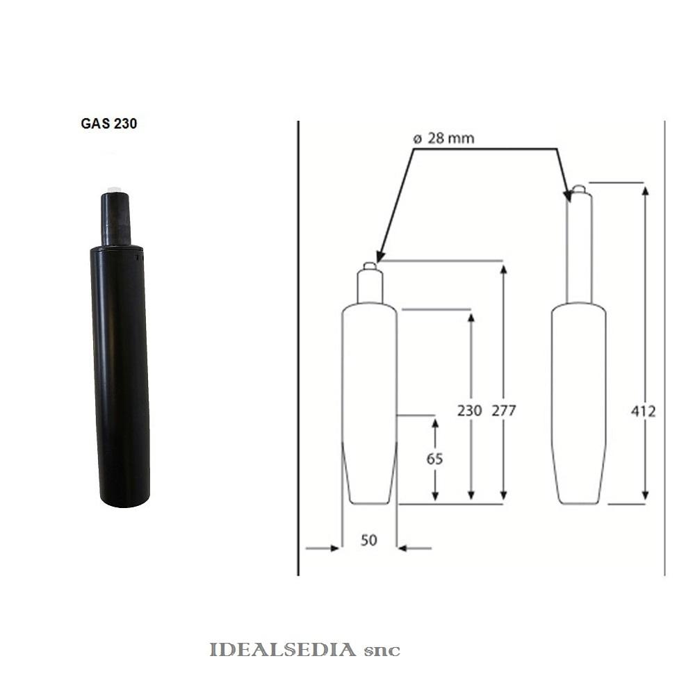 Ricambi Per Sedie Ufficio.Pistone Gas Di Ricambio Per Poltrona Da Ufficio Regolabile In