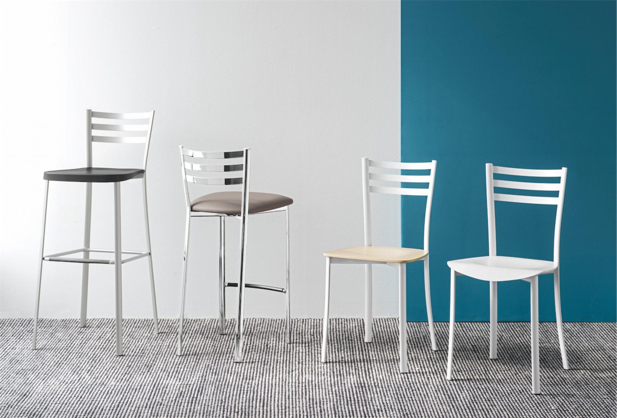 Sgabello ace o g calligaris da cucina in metallo fisso ideal sedia