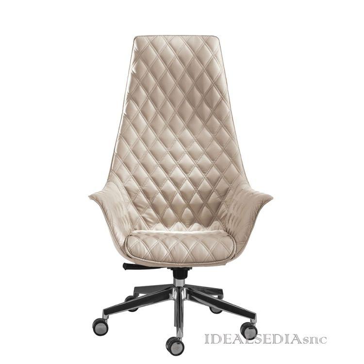 Poltrona manager alta kimera kastel ideal sedia for Poltrona studio