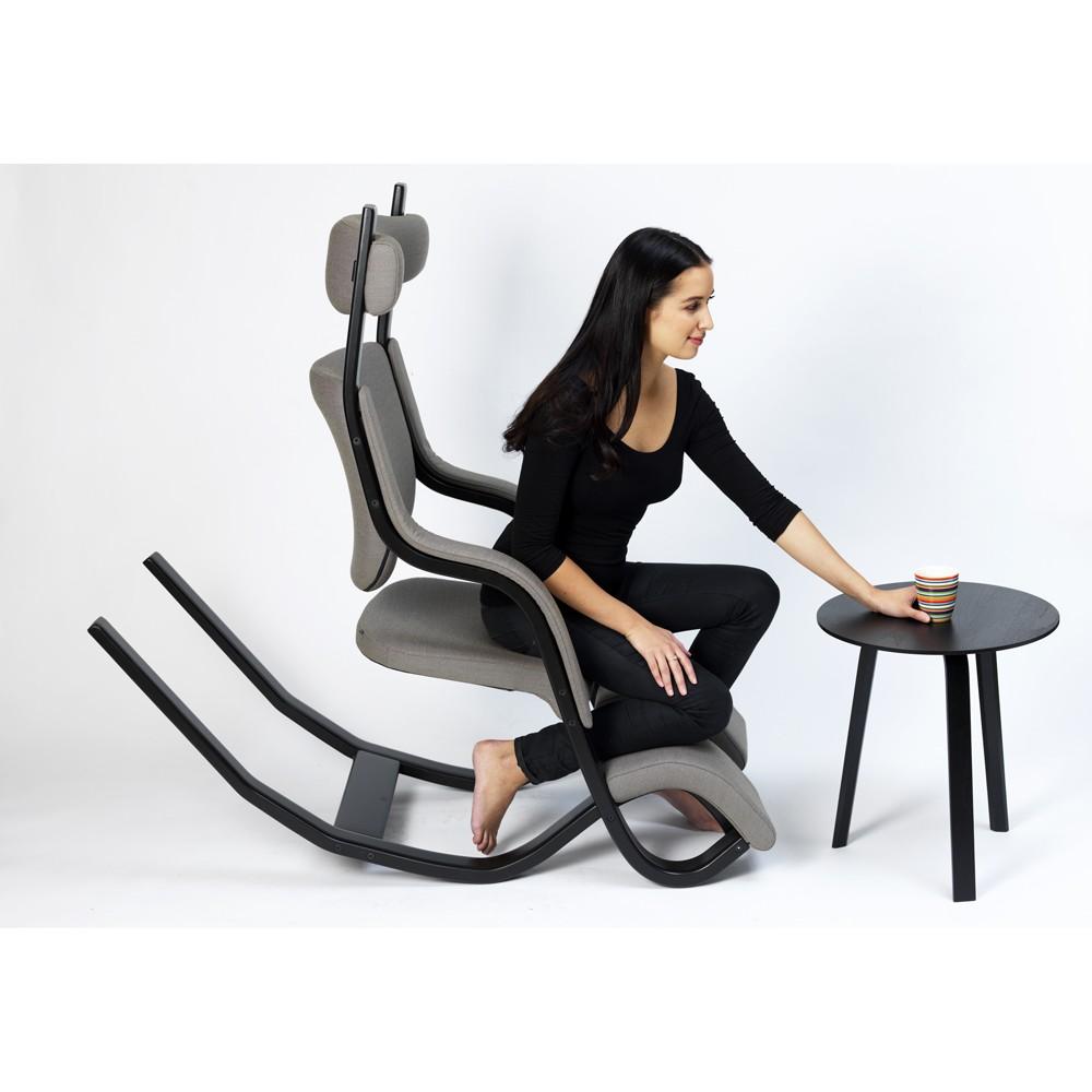 Gravity poltrona relax ergonomica varier ex stokke ideal for Sedia ufficio ginocchia