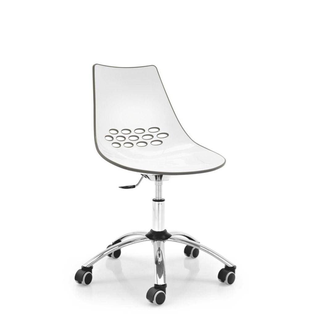 Poltroncina girevole jam calligaris su ruote ideal sedia for Sedia ufficio lecce