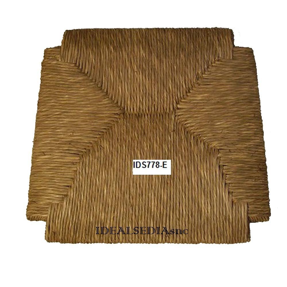 Ricambi Per Sedie In Legno.Sedile Di Ricambio In Vera Paglia Per Sedia In Legno Pesante