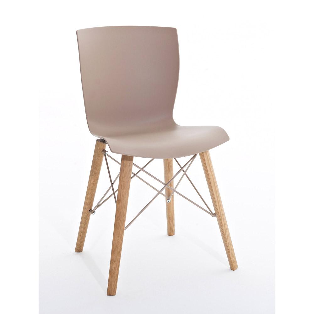 Sedia in legno e polipropilene rap wood colico design made for Sedie design treviso