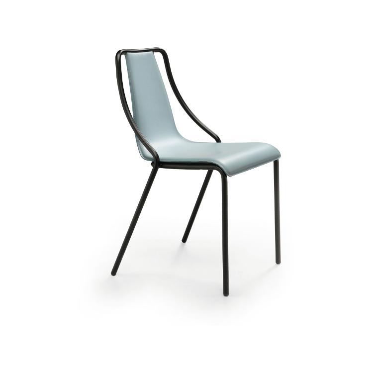 Sedie Metallo E Cuoio.Sedia Ola In Metallo E Cuoio Midj Design Ideal Sedia