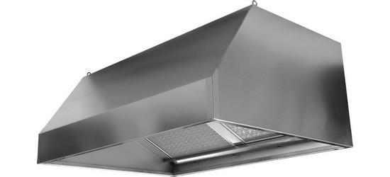 UNIVERSALE Cappa esterno 100err in acciaio INOX spazzolato