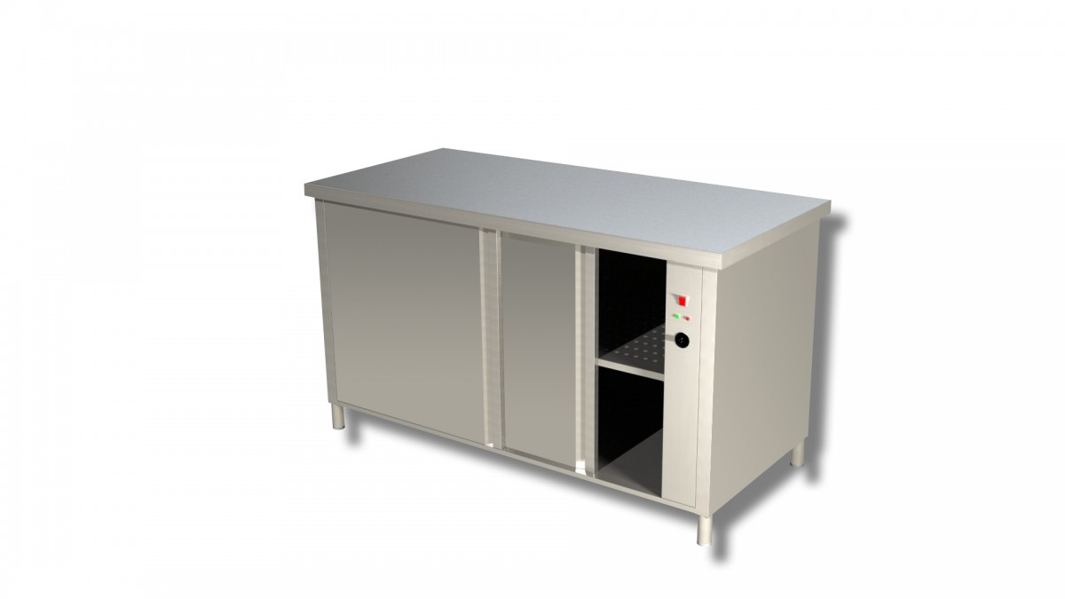 HEATED CABINET WITH SLIDING DOORS