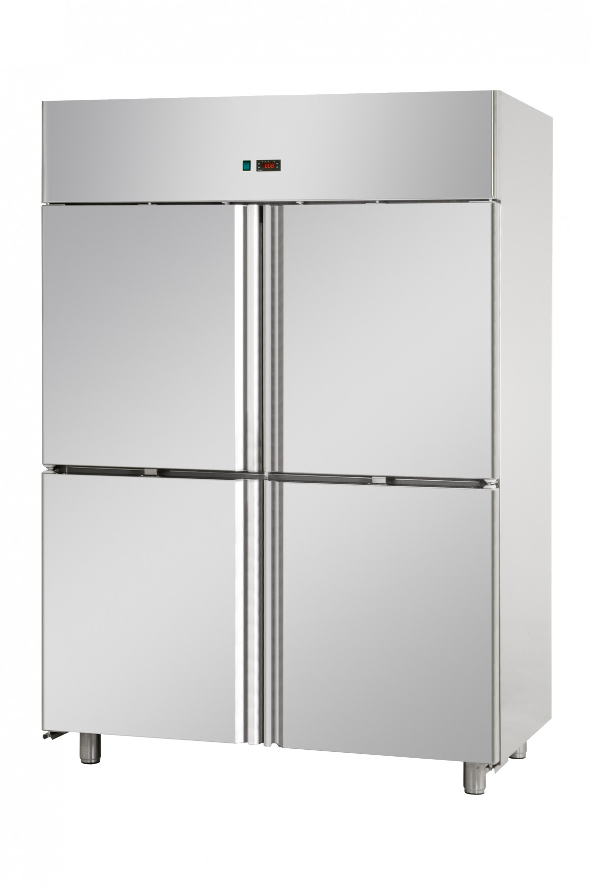4 HALFDOORS DOUBLE TEMPERATURE (TN+TN) STAINLESS STEEL GN 2/1 REFRIGERATED  CABINET (copia)