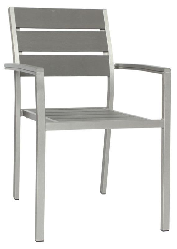 Sedie Da Esterno Con Braccioli.Sedia Da Esterno Con Braccioli In Alluminio Satinato