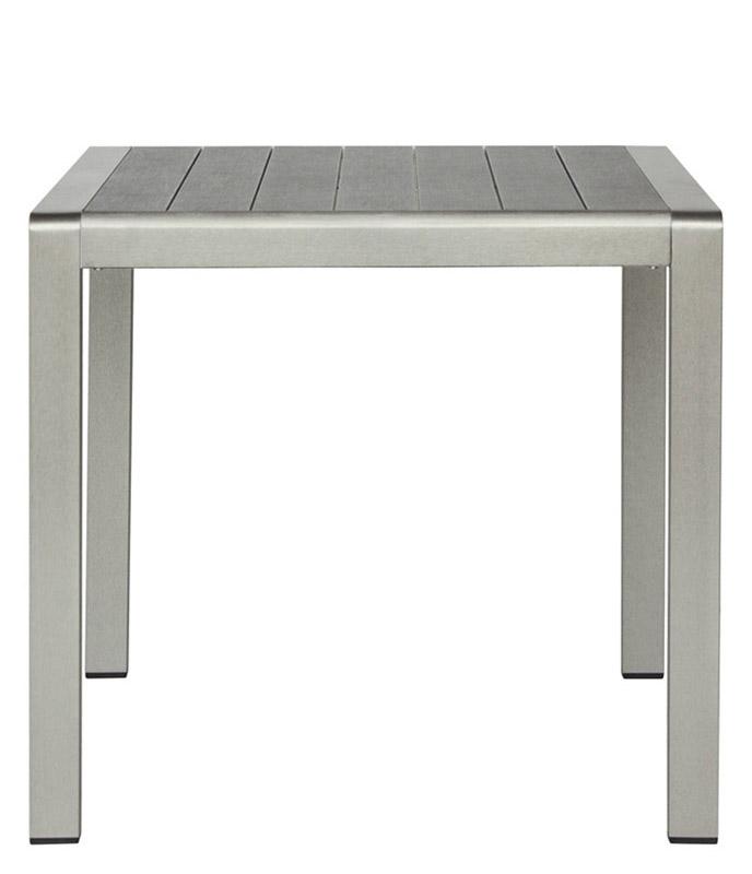Tavoli Per Ristorante Da Esterno.Tavolo Da Esterno In Alluminio Satinato
