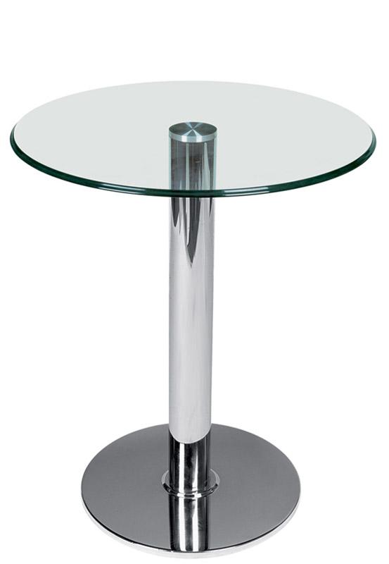 Tavolo Piano Vetro Tondo.Tavolino Con Piano Tondo In Vetro