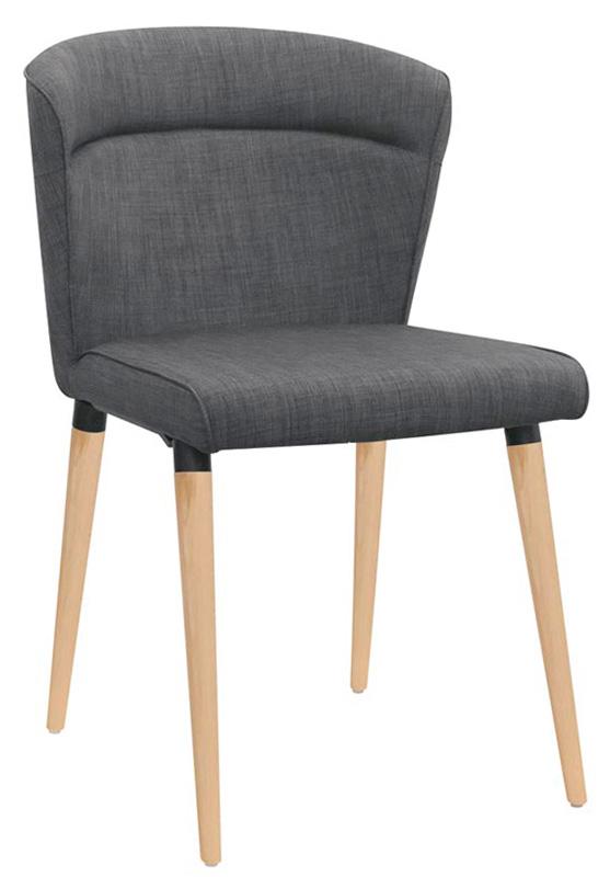 Sedia Con Struttura Metallo E In Legno Seduta E Schienale In Tessuto 1438 C50w
