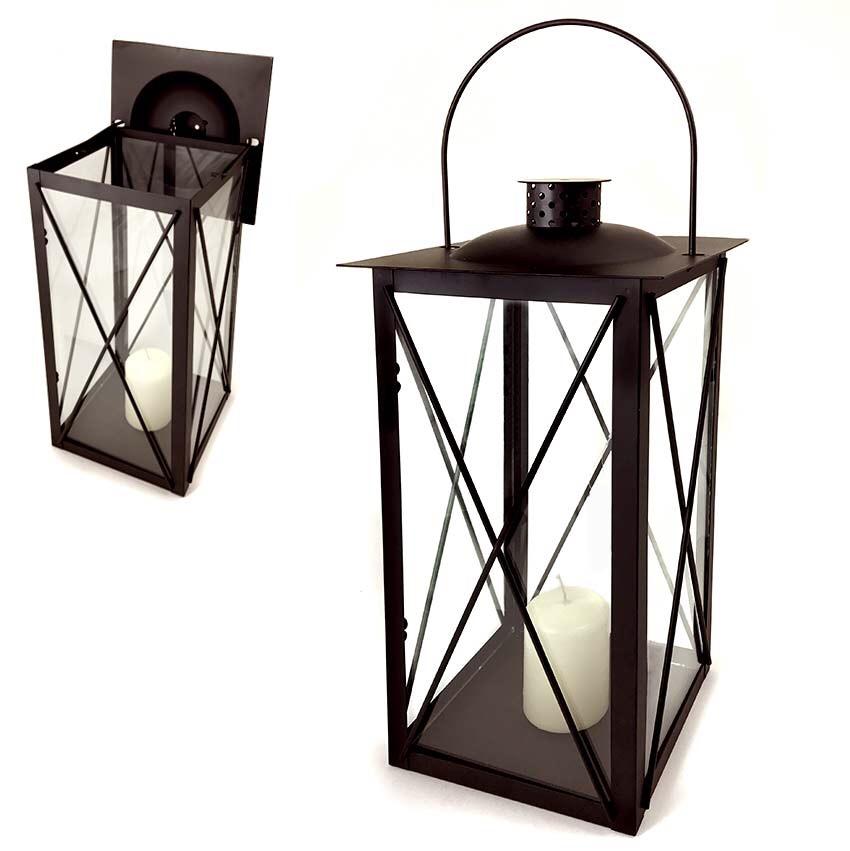 Vendita lanterna metallo porta candela h 42cm vendita for Porta candela