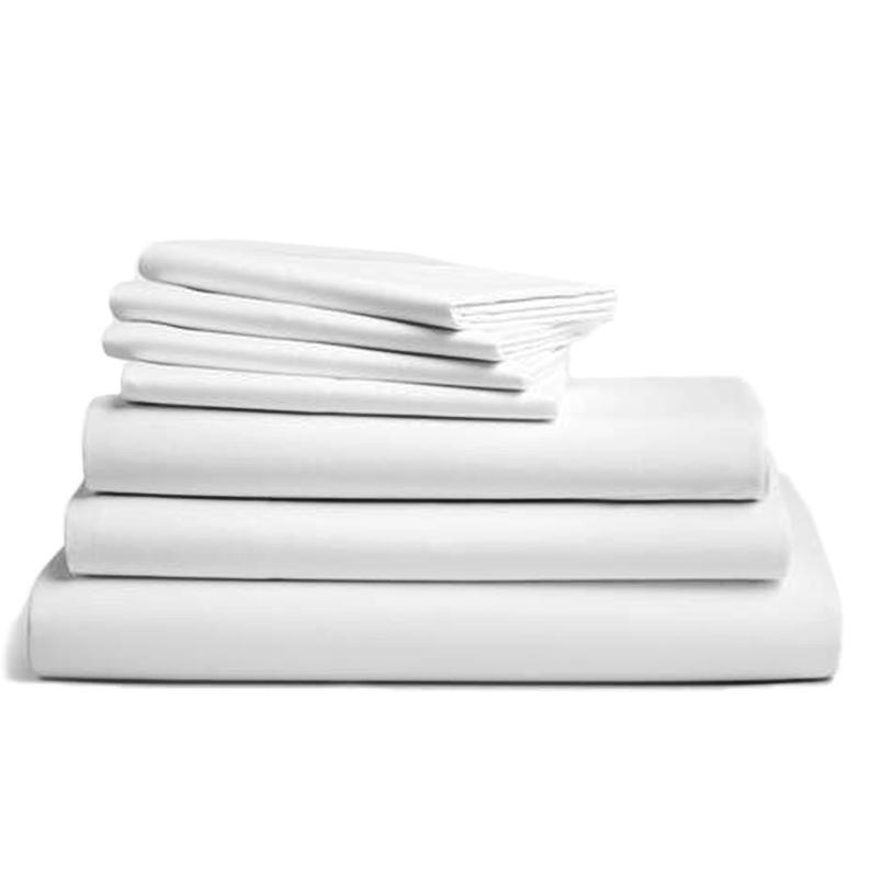 104fcfb689 Lenzuolo percalle puro cotone bianco per letto matrimoniale di Suite ...