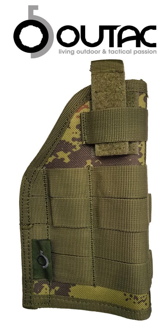 modello Plus Pistol Holster Fondina Modulare Molle Militare Defcon 5 VEGETATA