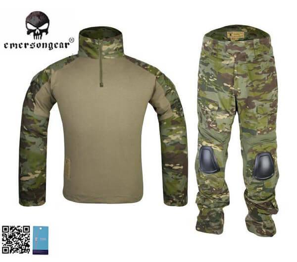 homme soft air uniforme de combat Gen2 uniforme tactique Multicam Tropic