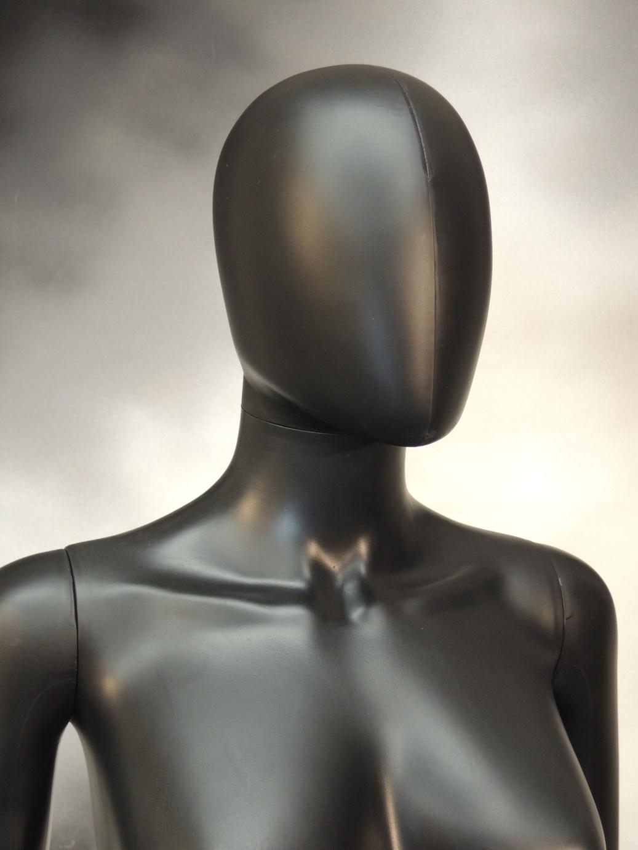 Dummy Black Woman Head Heavy Pvc Budget Mannequins