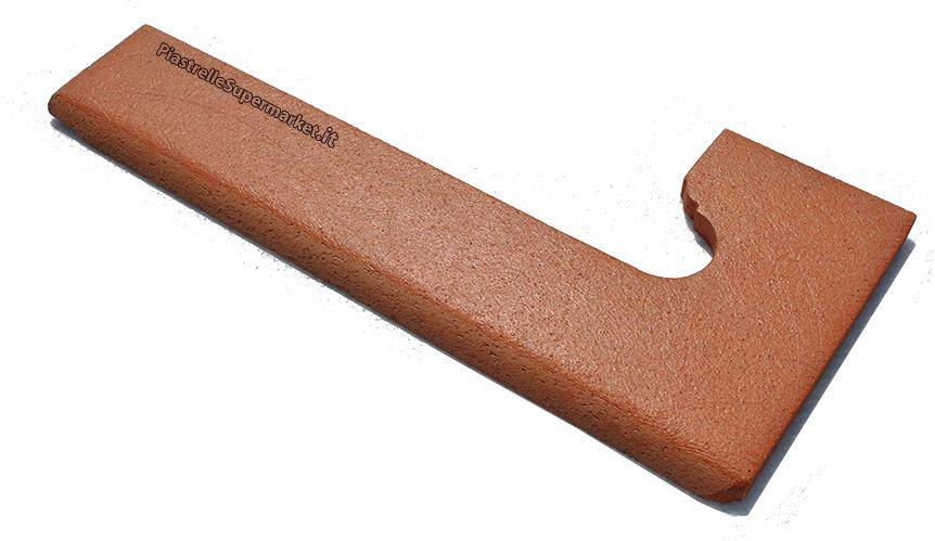 Battiscopa destro sinistro in cotto per gradini una delle