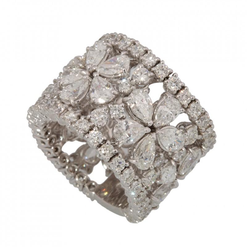 Souvent Anello Fascia con diamanti motivo a fiori Roma, vendita Anello  FZ33