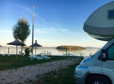 Low season offer for two people with camper or caravan from September to November