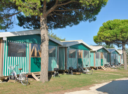 One week in a mobile home: offer for September in Bibione