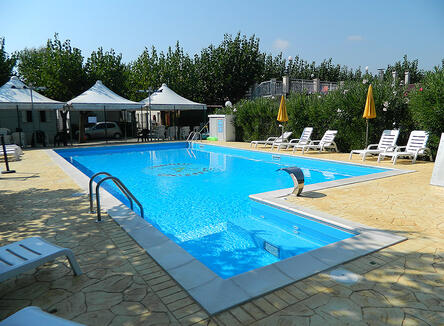 Offer end July early August in village with swimming pool in the Marche Region