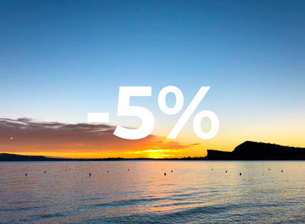 The early bird catches the worm! -5%