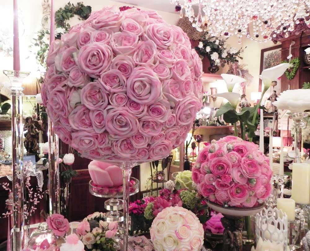 Sfera di rose gigante coroncine e sfere di fiori fiori for Fiori artificiali