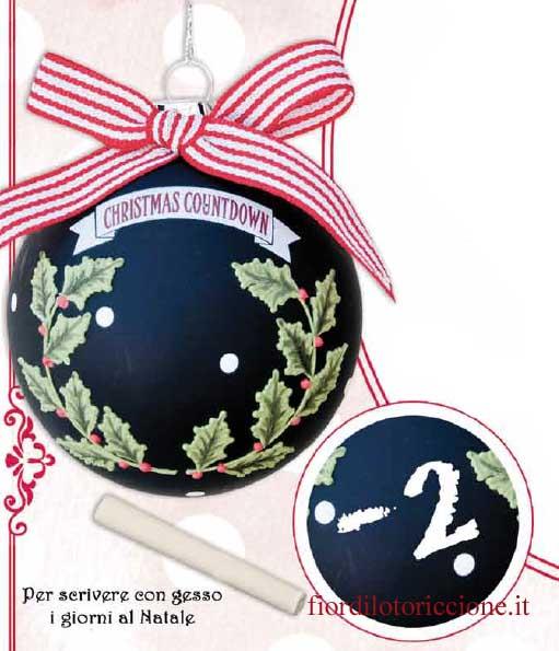 Countdown Natale.Sfera Di Natale Con Lavagna Countdown