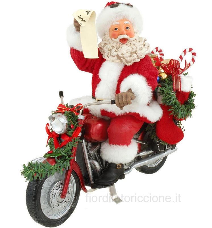 Babbi Natale.Babbo Natale Motociclista