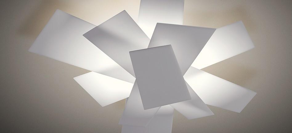 Big bang lampada da soffitto o parete di foscarini for Lampade a soffitto
