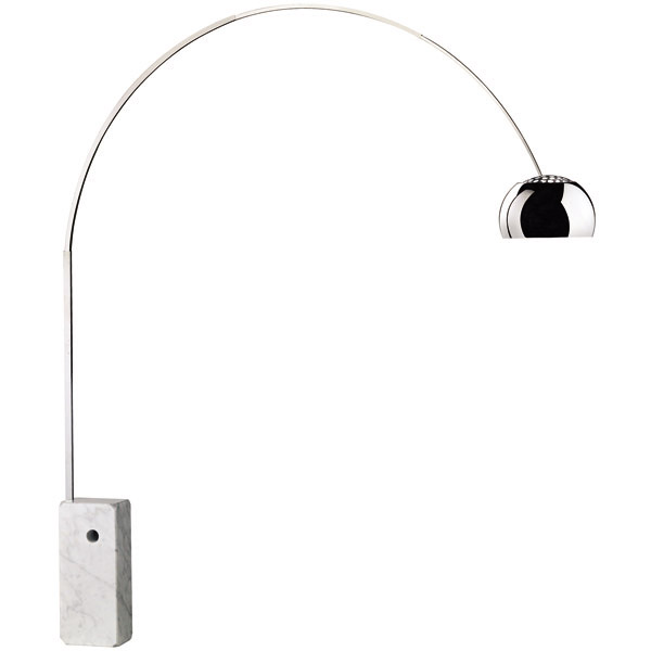 Arco lampada da terra di Flos - design Achille Castiglioni