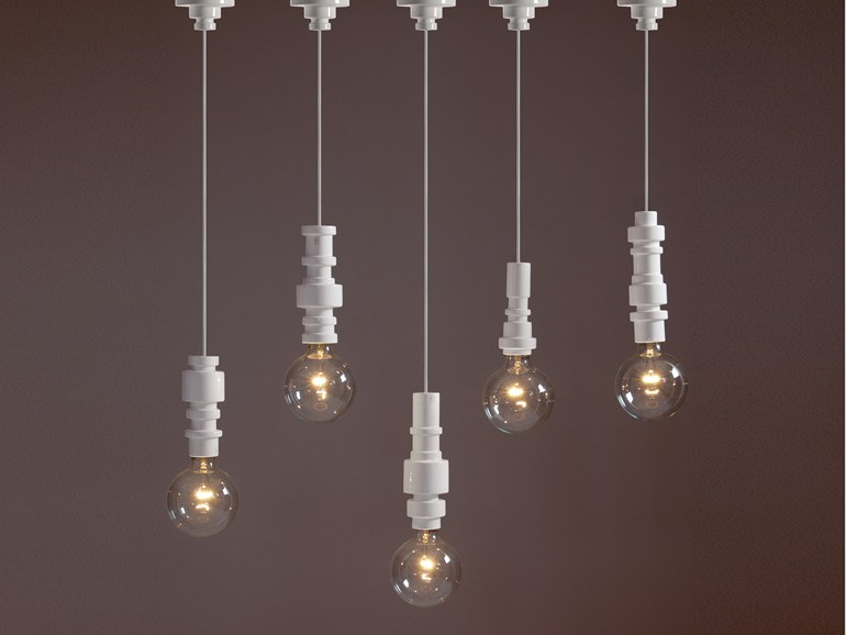 Turn lampada a sospensione in porcellana di Seletti   Pianeta Luce