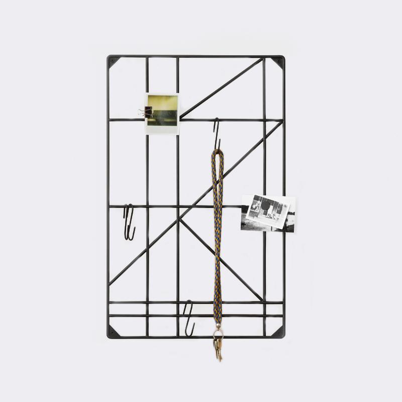 Square rack pannello portaoggetti ferm living con 8 ganci - Pannello portaoggetti ...
