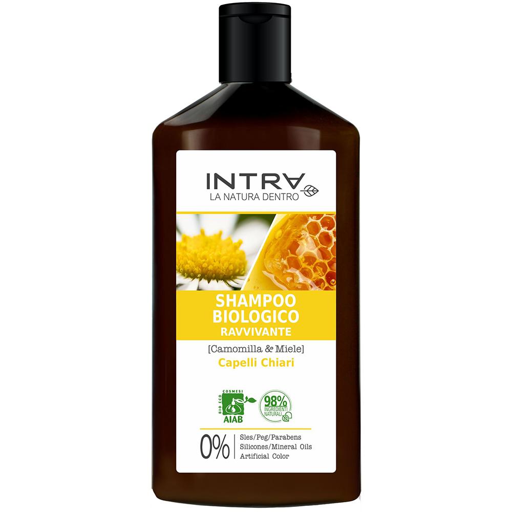 Intra. Camomilla   Miele. Shampoo Biologico Ravvivante 75475bef1eb6
