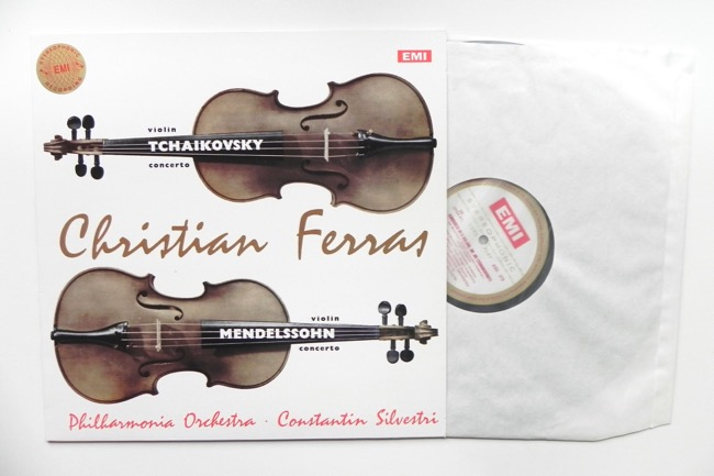 Tchaikovsky - Violin Concerto in D / Mendelssohn - Violin Concerto in E  Minor / Philharmonia Orchestra - C  Silvestri / C  Ferras -- LP 33 rpm 180  gr