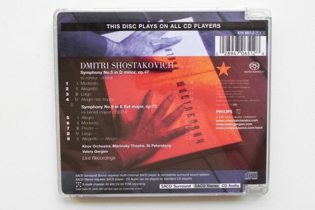 Shostakovich: Symphonies No  5 & 9 / Kirov Orchestra - Gergiev -- Hybrid  SACD - Made in EU