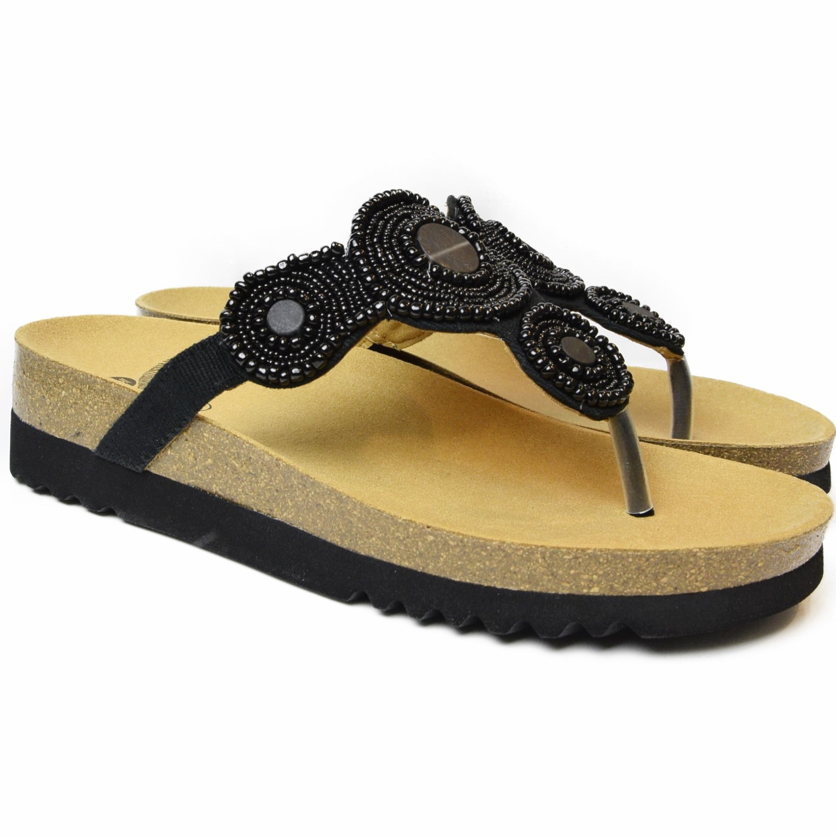 95be42d9d DR. SCHOLL WOMEN S FLIP FLOPS WITH BEADS ZARINA BLACK