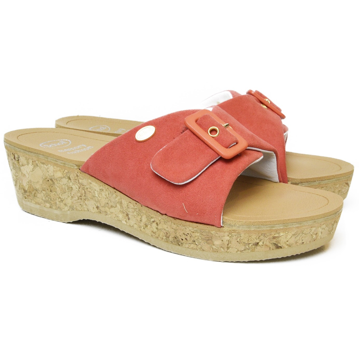 176717386c6 DR. SCHOLL WOMEN S CLOG WITH WEDGE HEEL IN REAL CORK WAPPY CORAL ...