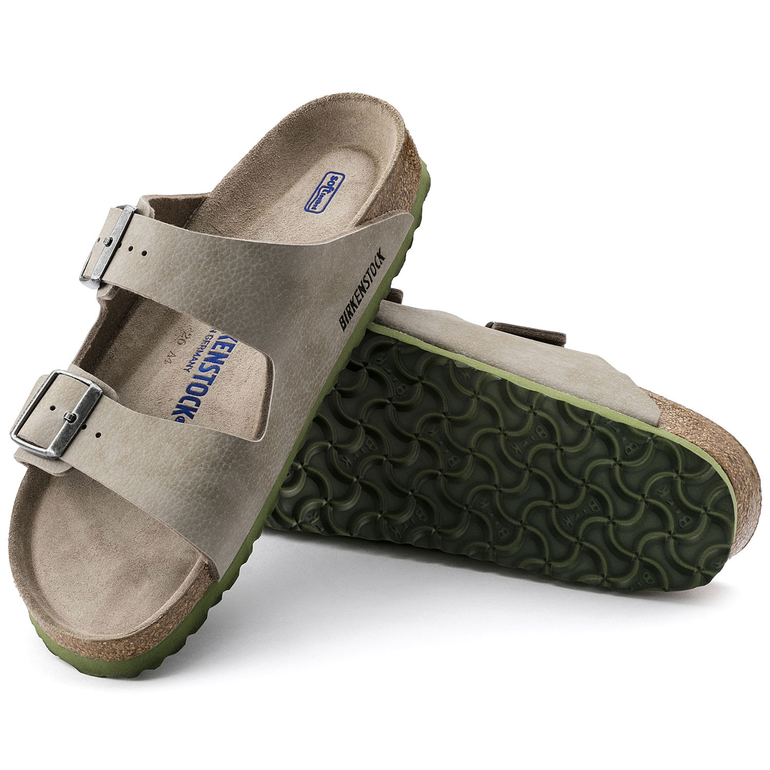 3533126a0 BIRKENSTOCK ARIZONA WOMEN FLIP FLOPS SOFT FOOTBED WITH DOUBLE BUCKLE STEER  TAUPE