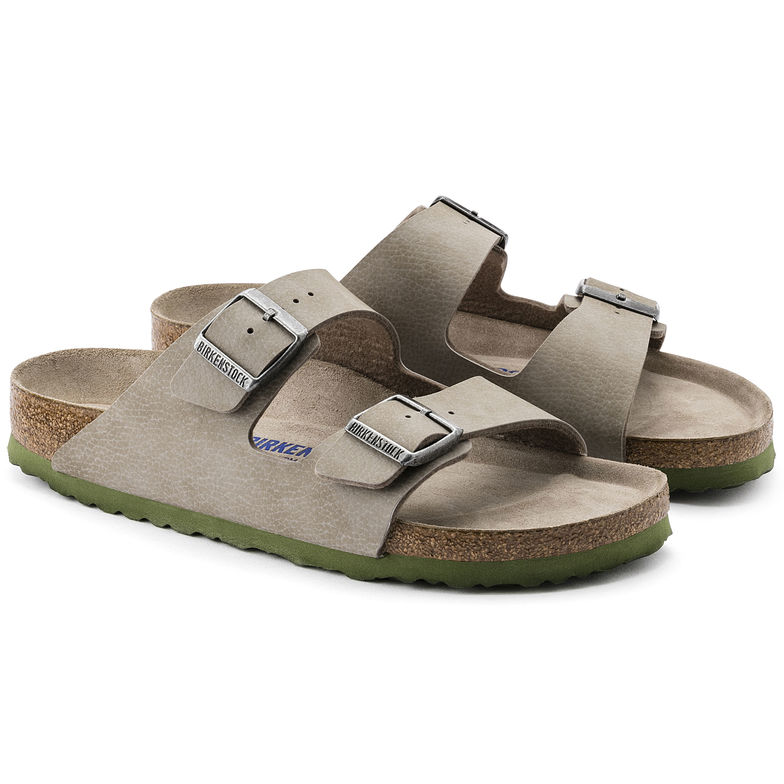 6ddd639e1 BIRKENSTOCK ARIZONA WOMEN FLIP FLOPS SOFT FOOTBED WITH DOUBLE BUCKLE STEER  TAUPE